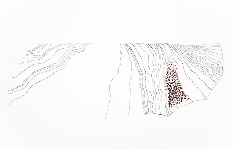 Laura Scheringa - Landschap nr.3 Oostindische inkt, gouache op papier 22 x 38,5 cm € 180,-