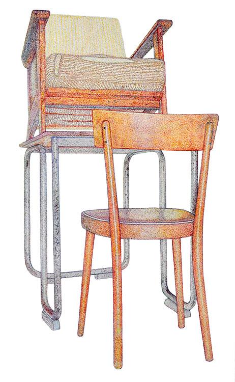 Monica Overdijk - Shoeshine #1 kleurpotlood op papier 38,5 x 23,6 cm € 450,-