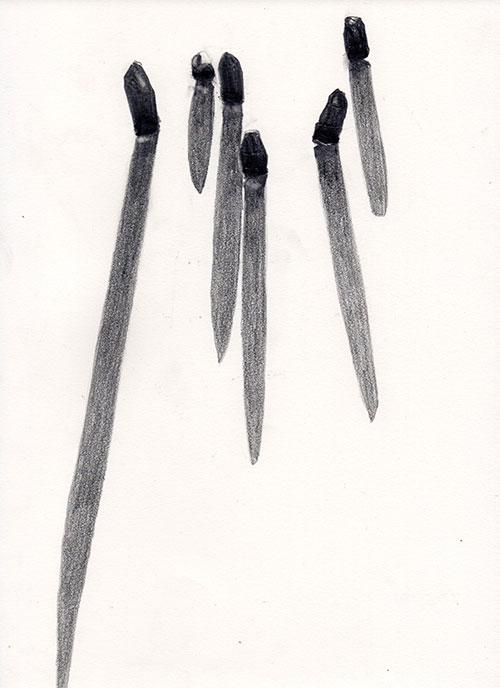 Petra Moerman - z.t. gemengde techniek op papier 30 x 22 cm € 350,-