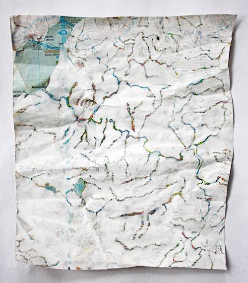 Tanja Isbarn - Kzieniks (Mapping no 1) gouache op papier 23 x 20 cm € 250,-