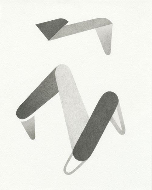 Aimée Terburg - z.t. (Objectmata 12) potlood op papier 25 x 20 cm € 450,-