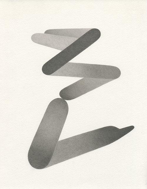 Aimée Terburg - z.t. (Objectmata 8) potlood op papier 25 x 20 cm € 450,-