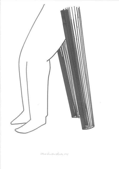 Albert Van Der Weide - z.t. inkt op papier 42 x 29,7 cm € 150,-