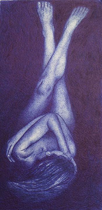 Daphne ter Wee - z.t. balpen op papier 29,5 x 16 cm € 350,-