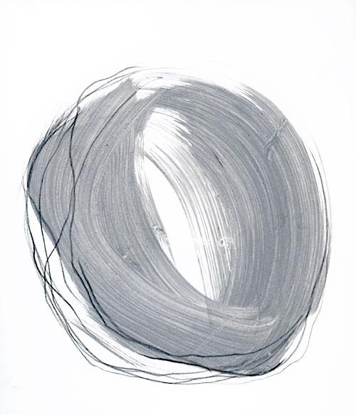 Eelke van Willegen - Grey V inkt, acryl en potlood op papier 25 x 21 cm € 200,-