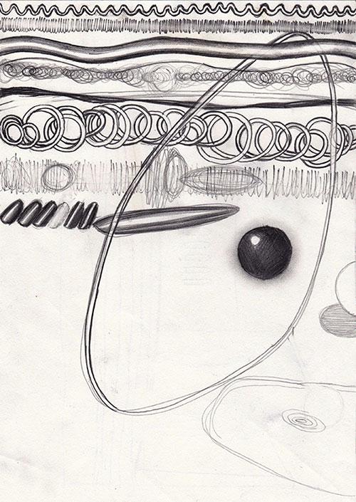 Erik-Jan van der Schuur - Compositie 'Conflict' 2 potlood op papier 29,7 x 21 cm € 300,-