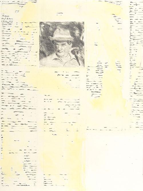 Jos van der Sommen - De open ruimte potlood / ecoline op papier 32 x 24 cm € 450,-