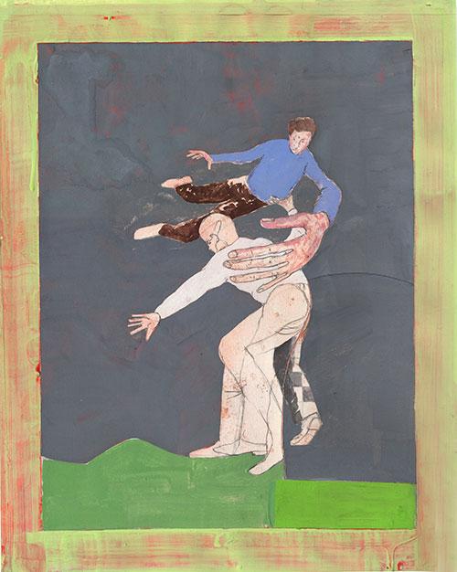 Roland Sohier - Schouderklopje / Kieteldood gouache op papier 37 x 29,5 cm € 950,-
